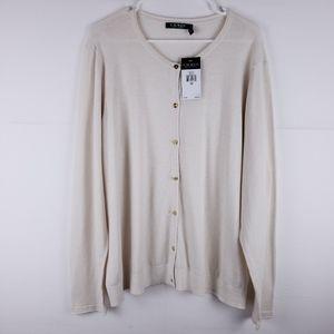 Lauren Ralph Lauren Creme Cardigan Size 3X